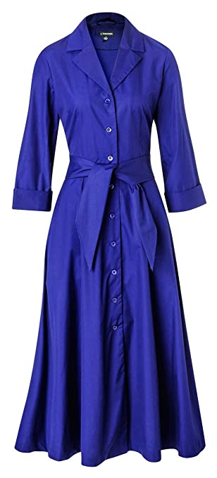 1940s Style Dresses and Clothing Long-Sleeve 1947 Dress $159.85 AT vintagedancer.com