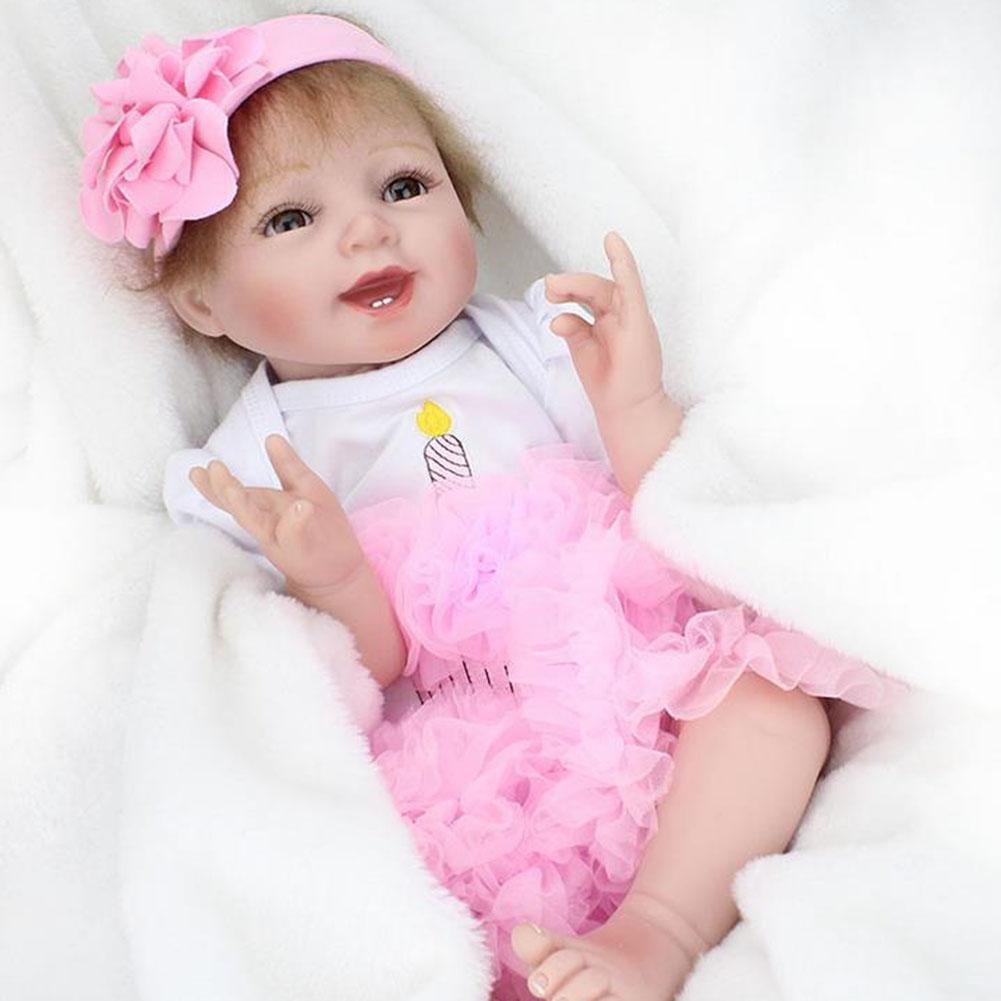 Hmhope Realistische Zwillinge Reborn Baby Puppe Soft Silikon