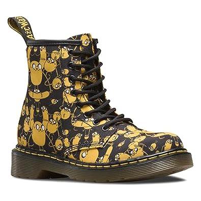90e167bc6ce Dr Martens Junior Delaney Adventure Time Jake Zip Boot Black-Black-11
