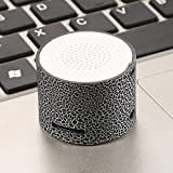 Electronics : Oguine Mini Bluetooth Speaker Led Light Portable Hands Free Speaker Support Tf Card for Cellphone Tablets iPad.1x1.2 inch