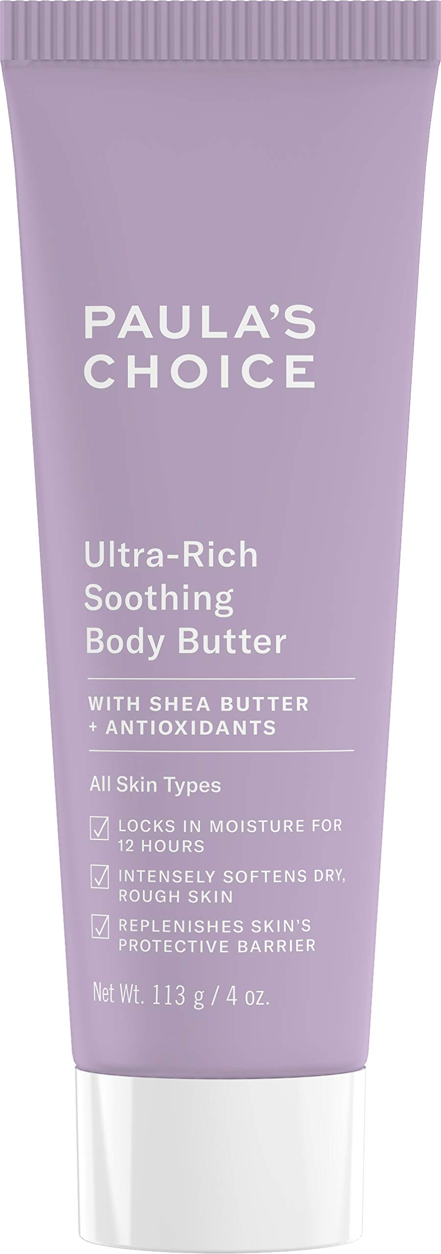 Paula's Choice Ultra-Rich Soothing Body Butter with Vitamin C & E, Shea Butter & Squalane, Sensitive, Dry Skin, 4 Ounce