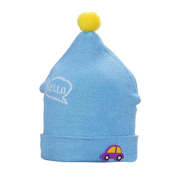 Hergon Light Blue Baby Knitted Winter Warm Hat d6e5b6dc244
