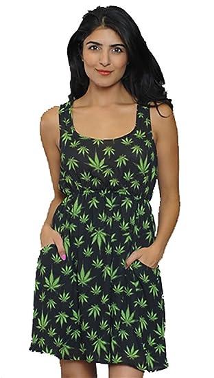 Tripp NYC Women's Grow Your Own Marijuana Dress in Black (M)