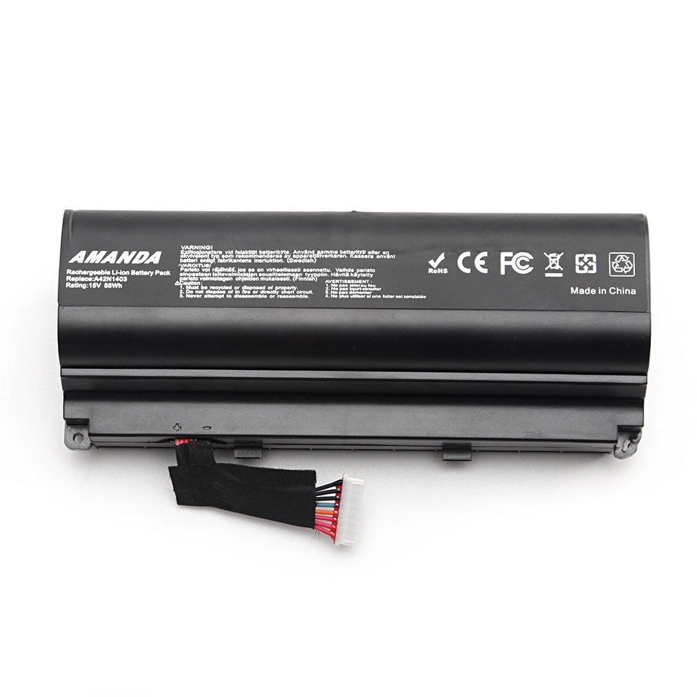 Bateria A42n1403 15v 88wh Para Asus Rog Gfx71jy 17.3 Inch Gfx71jy4710 G751 G751j G751jm G751j-bhi7t25 Series A42lm93 0b1