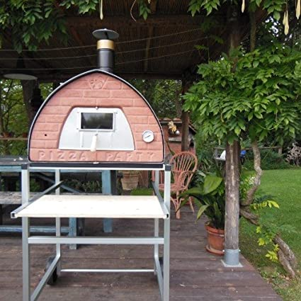 Wood Fired Pizza Oven Pizza Party 70x70 U0026quot;Bronzeu0026quot; + Door With  Glass (