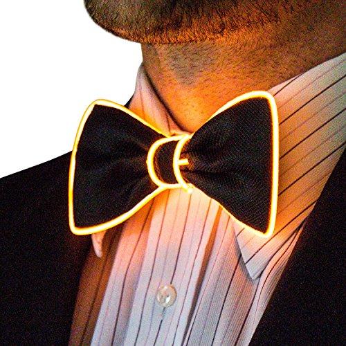 Neon Nightlife Light Up Bow Tie for Men, -
