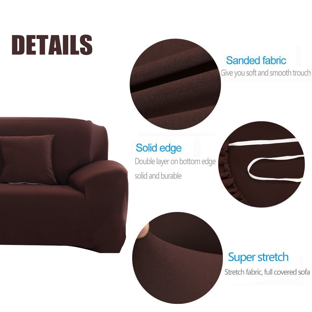 2 Seater , Gray 57-72 WOMACO Stretch Loveseat Cover 2 Seater Elastic Couch Slipcovers 2 Seats Sofa Protector for Dogs Cats