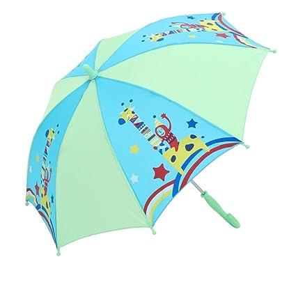 Paraguas Sombrilla para niños Sombrilla para niños Sombrilla para niños con Mango Largo Seguridad para niños