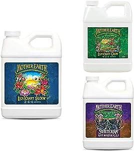 Mother Earth HGC733936 LiquiCraft Bloom 2-4-4 Liquid Fertilizer, Natural with LiquiCraft Grow 4-3-3 Liquid Fertilizer and Subterra Root Booster 0-1-1 Liquid Fertilizer