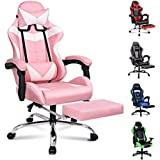 ALFORDSON Gaming Chair Racing Chair Executive Sport Office Chair with Footrest PU Leather Armrest Headrest Home Chair…