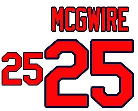 pretty nice a70e4 b75b7 Mark McGwire St. Louis Cardinals Jersey Number Kit ...