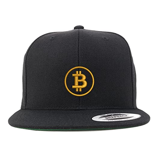1e38c23ead1 Trendy Apparel Shop Bitcoin Embroidered Flat Bill Snapback Baseball Cap -  Black