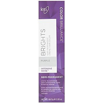 Amazon.com : Ion Purple Semi Permanent Hair Color Purple ...