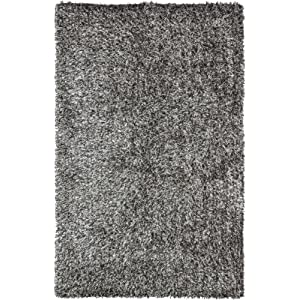 Safavieh New Orleans Shag Collection SG531-7612 Platinum and Ivory Polyester Area Rug (4