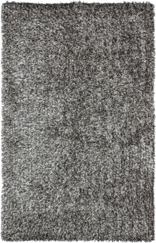 Contemporary Polyester Rug (Safavieh New Orleans Shag Collection SG531-7612 Platinum and Ivory Polyester Area Rug (4' x)