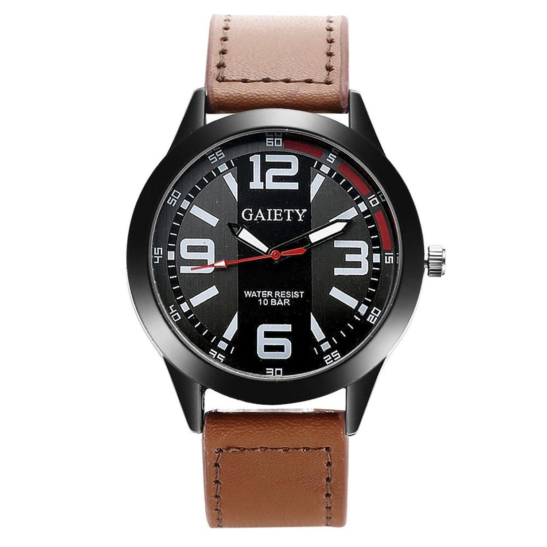baomabaoレトロ腕時計メンズステンレススチールレザーアナログクォーツWatches BW B06XFN4HVP