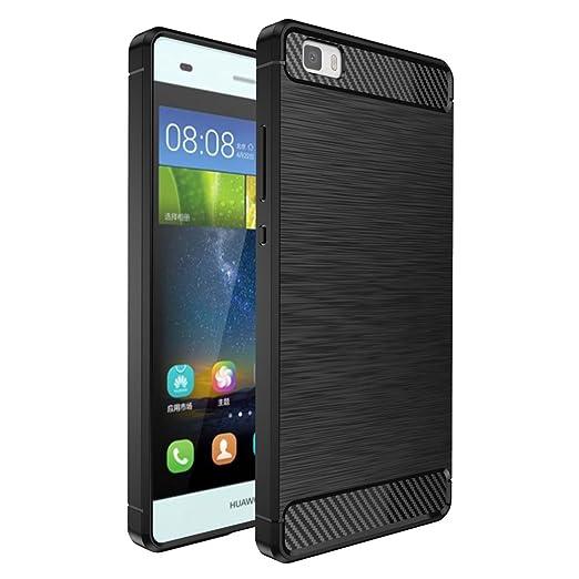 53 opinioni per Custodia Huawei P8 Lite Nero , ivencase Lusso Cover Schlank TPU Silicone Case