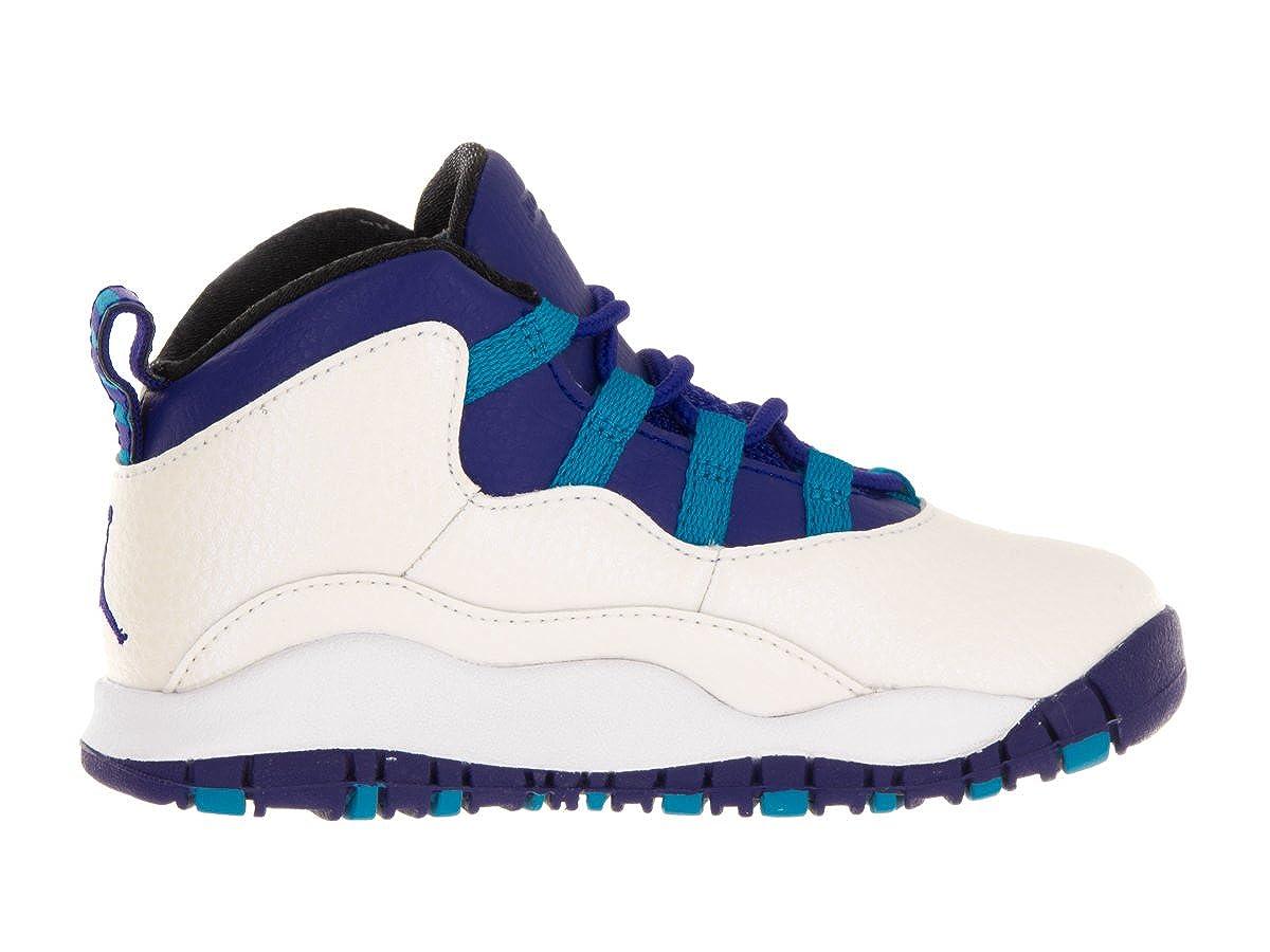Jordan Jordan310808-107 - Nike 10 Retro BT, BT, BT, 310808-107, Weiß Blau Schwarz Unisex Baby Herren 4c4e10