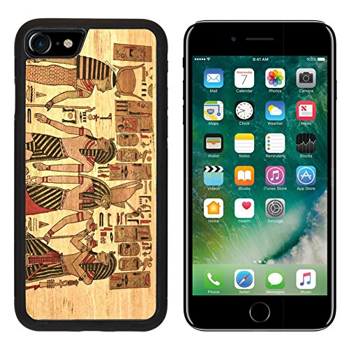 MSD Premium Apple iPhone 7 iPhone7 Aluminum Backplate Bumper Snap Case IMAGE ID: 11425280 Egypt Papyrus with elements most prominent of the antique (Major Egyptian Gods)