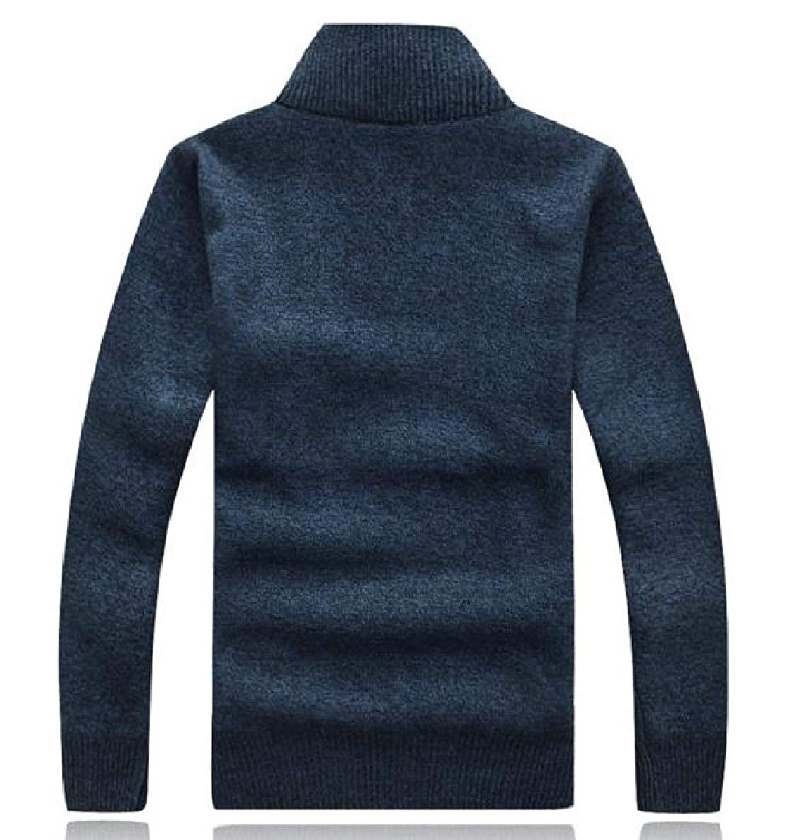 VividYou Mens Thicken Knitted Stand Collar Jersey Outwear Pullover Sweaters