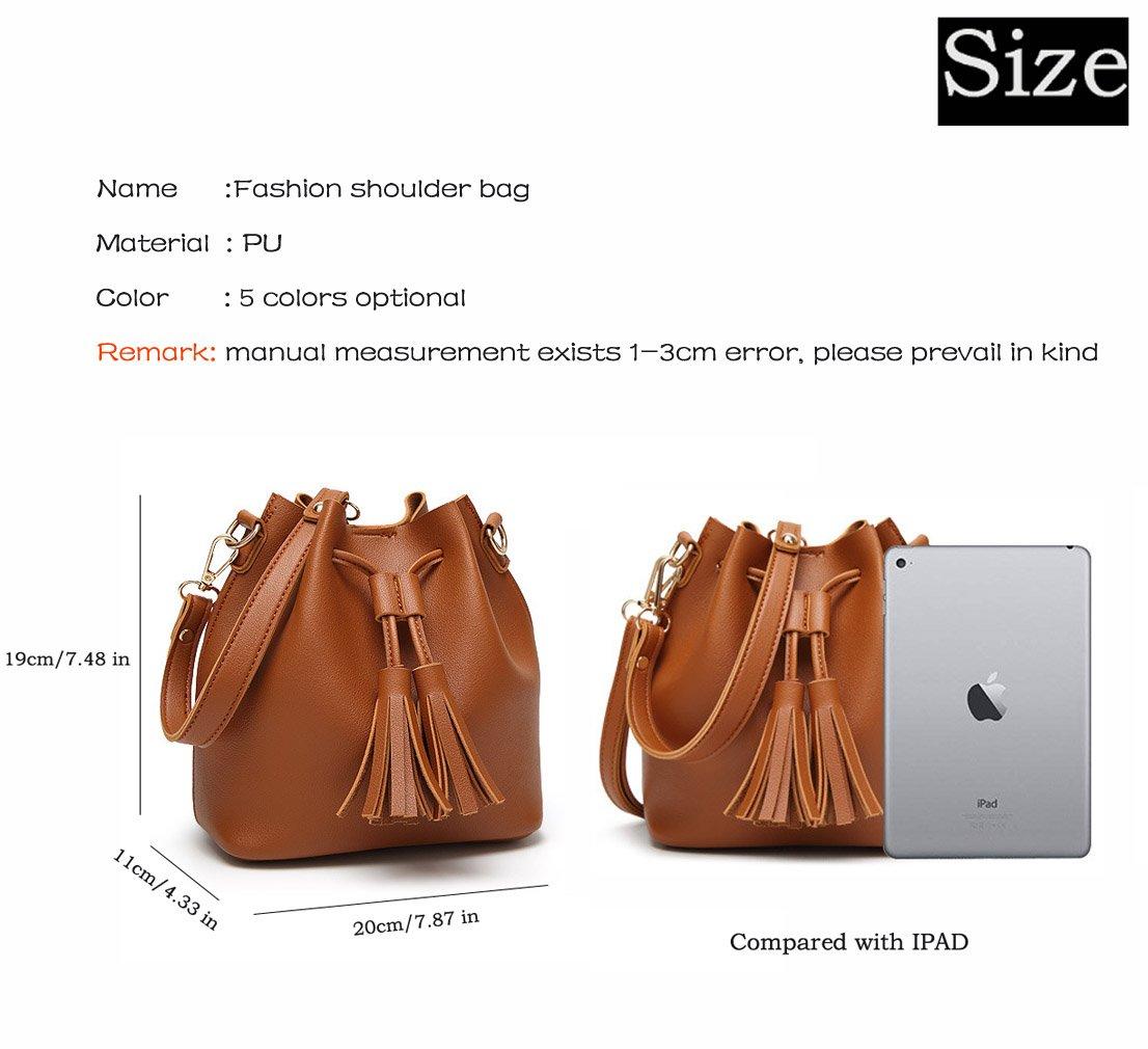 HopeEye Donna Tendenze della moda Pelle Pu borsa a tracolla Ms.(gzaspunb01-3-White) Precio Más Barato El Precio Barato 34PZR74N