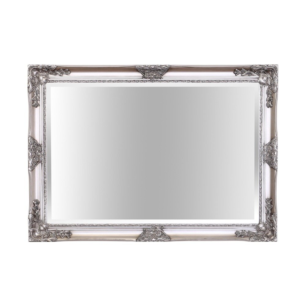 Barcelona Trading Haddon Antique SILVER Ornate Overmantle Rectangle Vinatge Wall Mirror 41