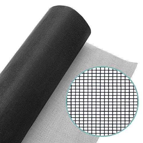 Lazy Dog Warehouse Window Screen Mesh Roll 36in x 100ft - Fiberglass Screen Replacement Mesh for DIY Projects (Black Mesh)