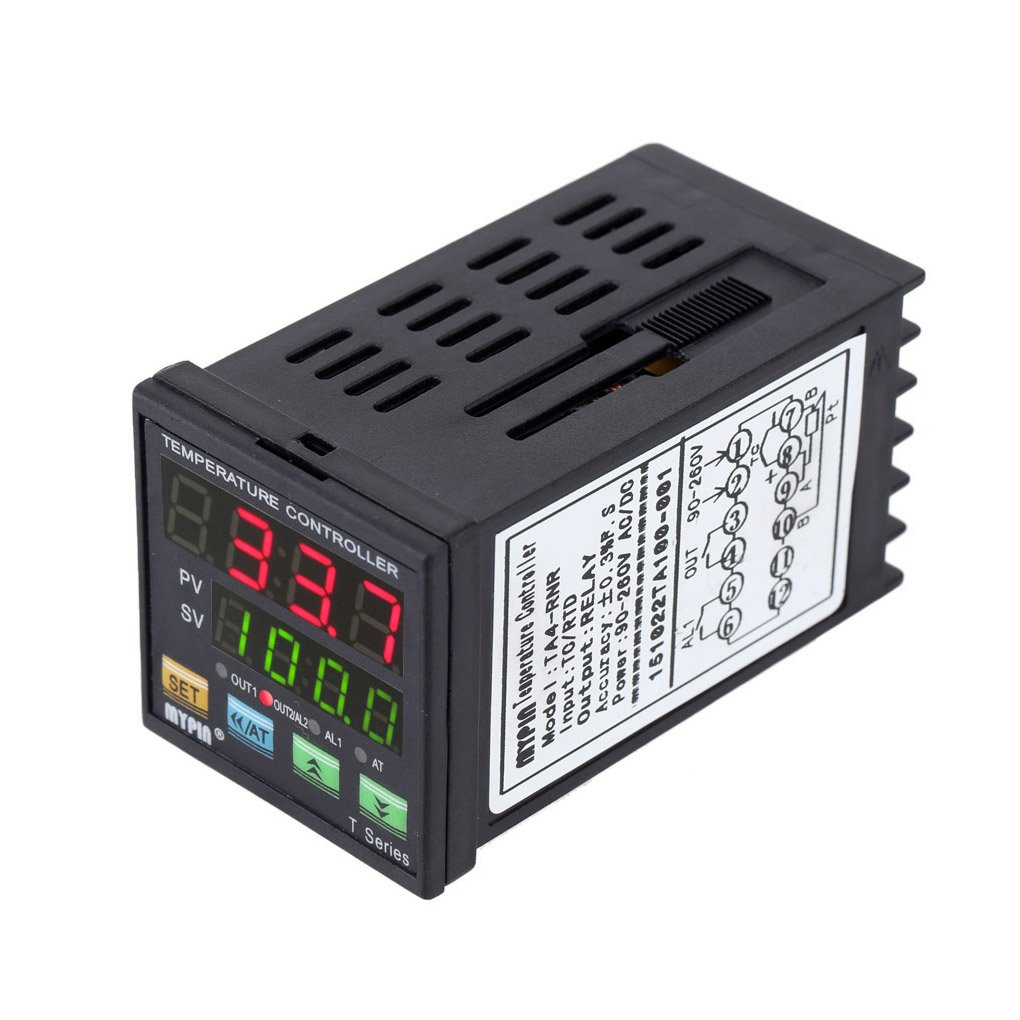 Xuanhemen MYPIN TA4-RNR Digital LED PID Temperature Controller Thermometer Heat Cooling Control RNR 1 Alarm Relay Output TC/RTD Thermostat