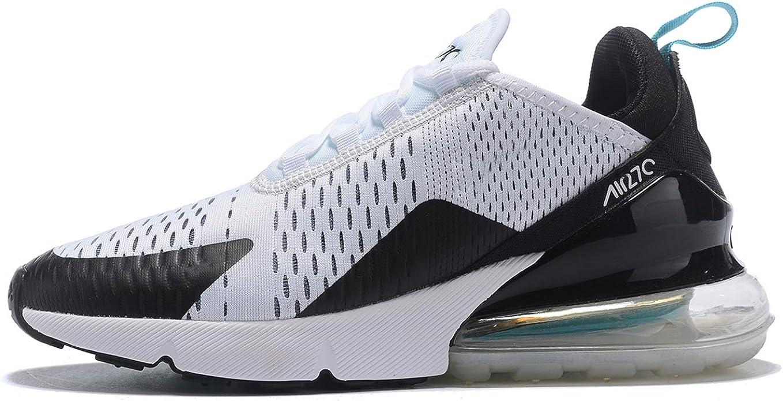 Hojert Air 270 Chaussures de Running Compétition Homme Sneakers Chaussure de Course Sport Walking Shoes (36 EU, BlancNoirBleu (13))