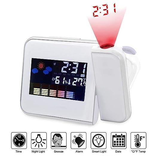 Relojes de alarma de proyección, pantalla LCD digital ...