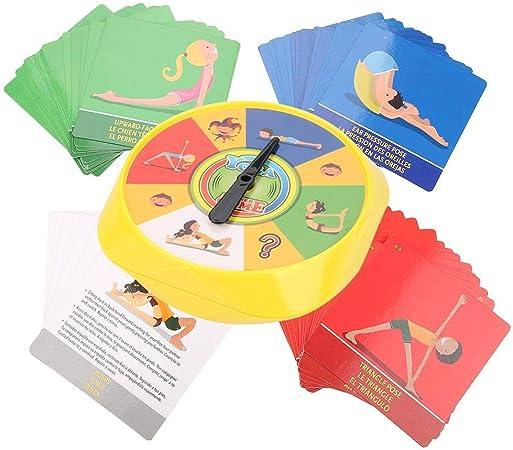 Juego de mesa de yoga 54 Pose de yoga Tarjetas de juego para padres e hijos Flexibilidad interactiva Ejercicio Juguete de escritorio Regalos para niños: Amazon.es: Bebé