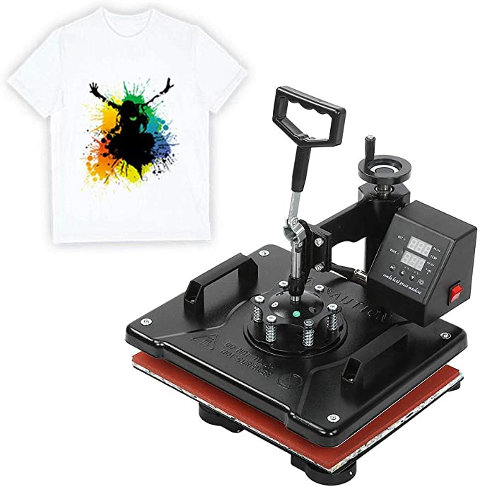 Máquina de Prensado de Calor, 38x38 cm Pantalla Doble 8 en 1 Máquina de Transferencia de Calor Digital de Péndulo Multifuncional Impresora de Taza para Hornear Impresora de Camisetas(UE): Amazon.es: Hogar