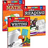180 Days of Practice for First Grade (Set of 3), 1st Grade Workbooks for Kids Ages 5-7, Includes 180 Days of Reading, 180 Day