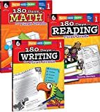 180 Days of Reading, Writing, and Math for First Grade 3-Book Set (180 Days of Practice)