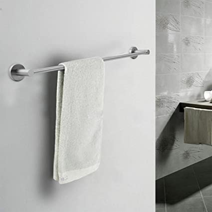 Amazon Com 23 6 Inch Wall Mounted Straight Towel Holder