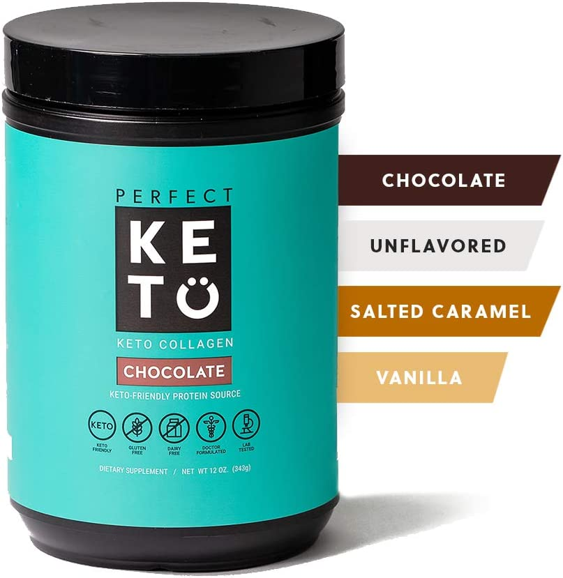Perfect Keto Collagen Peptides Protein Powder with MCT Oil