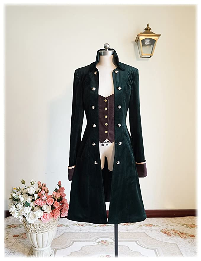 Steampunk Men's Coats Pirate Gothic Steampunk Victorian Fine Velvet Captain Cocktail Man Coat $204.00 AT vintagedancer.com