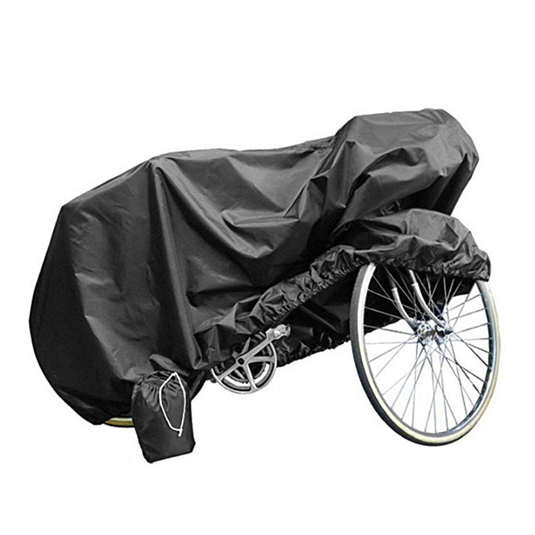 Andux Land Bicycle BikeCover 210T Polyester Heavy Duty Waterproof Wind Proof Rain Sun UV Dust for Mountain, Road, Racing Cruiser, Electric & Hybrid Bikes, Adjustable Outdoor Storage BlackZXCZ-01 by Andux (Image #1)