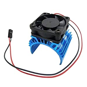 ShareGoo Alloy Heat Sink Heatsink with 5V Cooling Fan for 1/10 Car 540 550 3650 Size Brushless Engine Motor,for Remote Control Car Truck Buggy Crawler