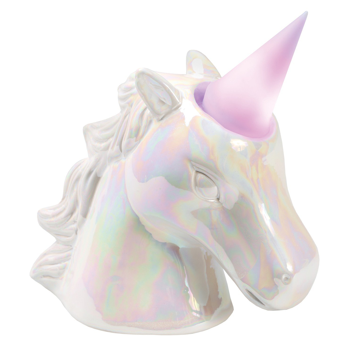 What on Earth Unicorn Night Light Coin Bank - Removable Color-Changing LED Lighted Horn by WHAT ON EARTH