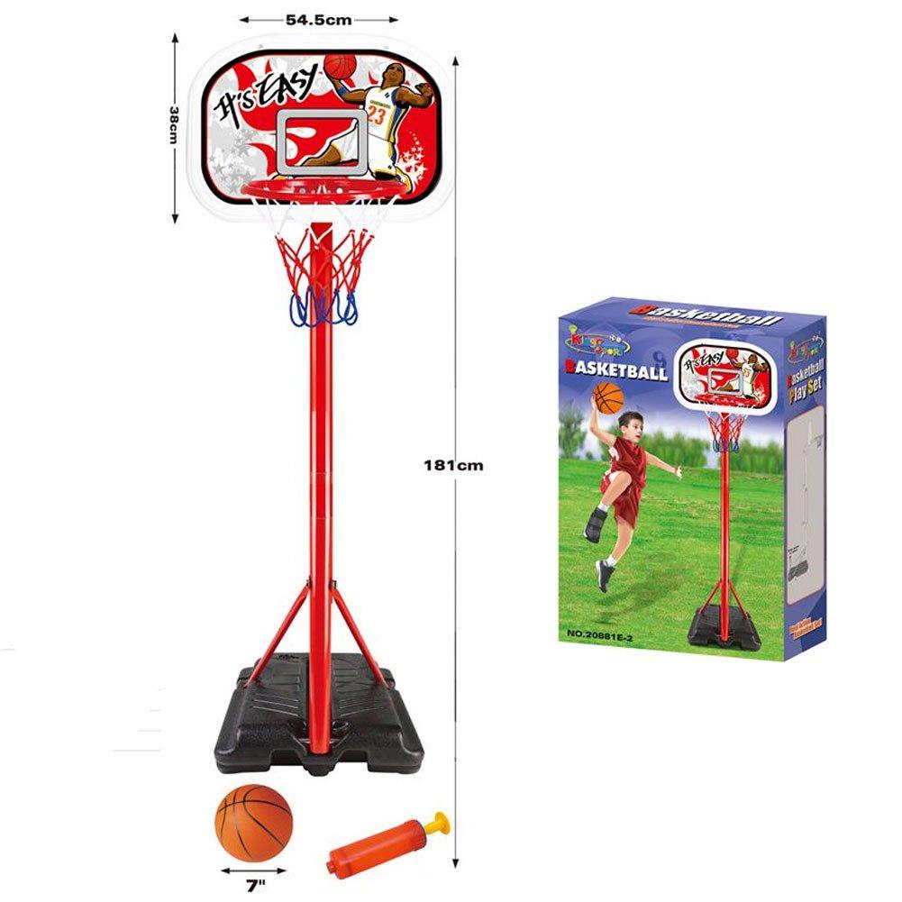 c88ec7208fa2 Bakaji Basket Canestro a Piantana in Metallo per Bambini Altezza Regolabile  fino a 181 cm con ingrandisci
