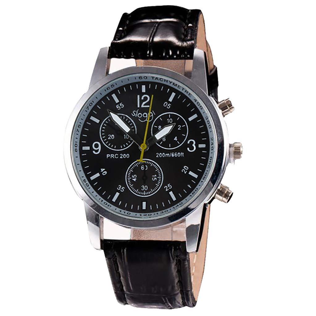 Modaworld Relojes Hombre Moda Relojes analógicos para Hombre Relojes de Cuero de imitación de Moda de Lujo Relojes Hombre Deportivos: Amazon.es: Relojes