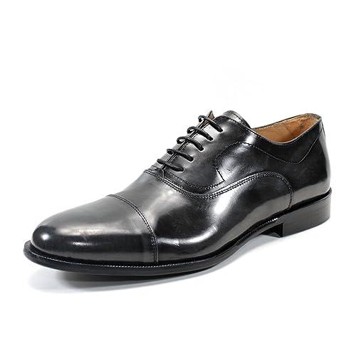 Zapatos para Hombres clásicos Mocasines Hechos a Mano en Italia Oxford Exton (42, Gris
