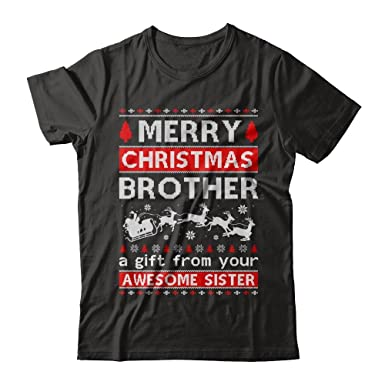centurytee mens merry christmas brother a gift from your sister sweater shirt gildan short sleeve