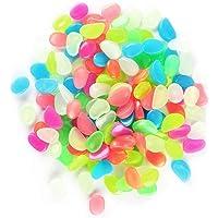 Hemore Jardín de Peces Tanque jardín pavimento Resina Ganso Huevo de Piedra Luminosa Mixta Color 50 Paquete El Regalo Ideal para los Padres,niños,aman