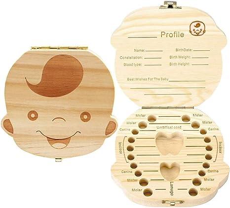 Caja de madera para dientes de bebé – Caja de hadas para guardar ...