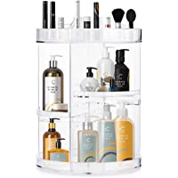 Makeup Organizer, Boxalls Rotating 360 Degree Crystal Adjustable Jewelry Cosmetic Perfumes Display Stand Box, 380 x 260…