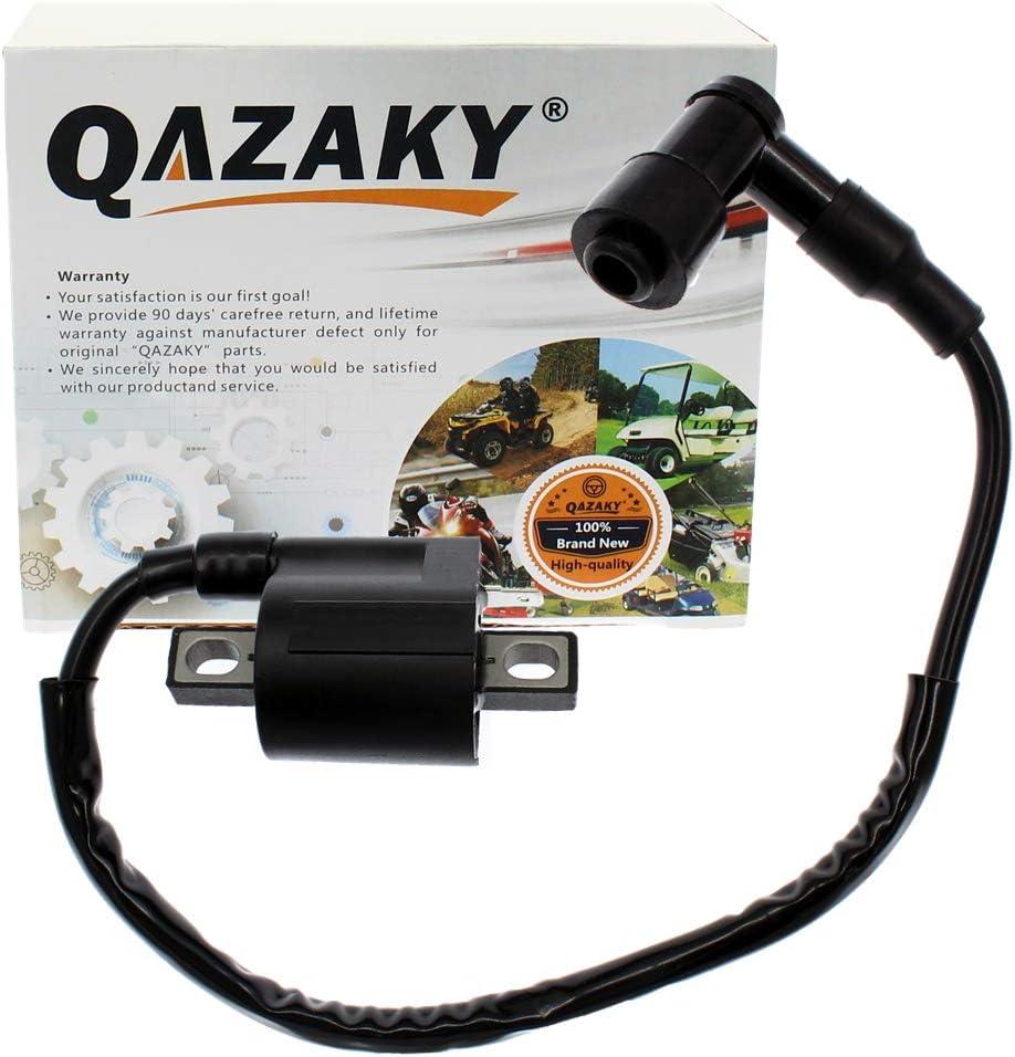QAZAKY Replacement for Ignition Coil Yamaha Bear Tracker 250 Trail Boss 330 YFM350 Warrior Big Bear Raptor TTR125 ATC185S ATC200 ATC200ES ATC200S