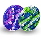 edepot Silicone Pop It Fidget Toy, Helps Sensory Overload, Anxiety, Stress Reliever(2 Pack) (Blue,Green)