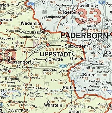 Alemania Código Postal mapa de pared para negocios: Amazon.es: Oficina y papelería